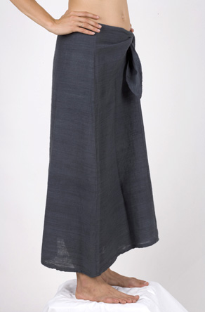 kashi : hand spun, hand loomed, vegetable dyed cotton wrap skirt
